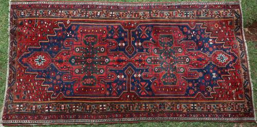 Old Bachtiari tribal Persian rug