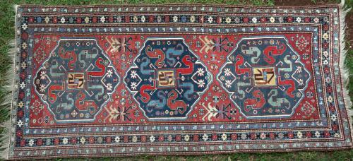 Antique Chondoresk Caucasian Tribal Rug