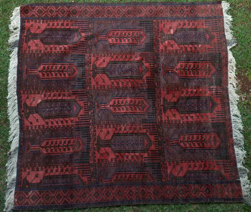Antique Chakansur Baluch Kalem Doneh Carpet