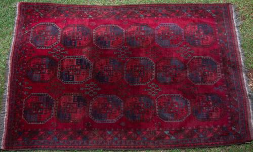 Old or antique Ersari Afghan turkoman carpet