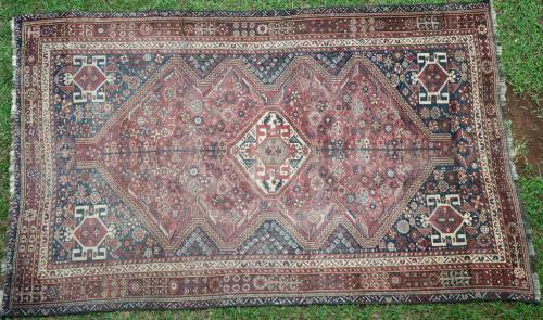 Antique Tribal Qashqa'i Persian Rug