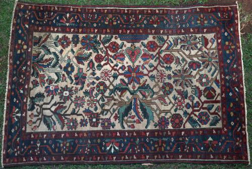 Antique Bachitari Persian rug