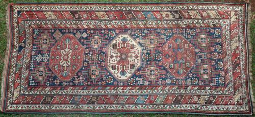 Antique Caucasian Karabagh or Kazak Runner