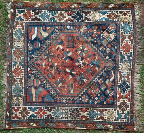 Antique Tribal Qashqa'i Persian bagface