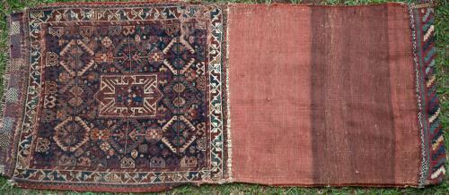 Antique Tribal Qashqa'i Persian storage bag