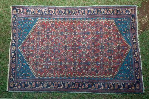 Old Kurdish Hamadan Persian Rug
