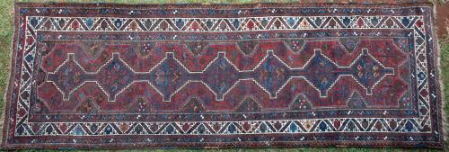 Antique Tribal Qashqa'i Persian Runner