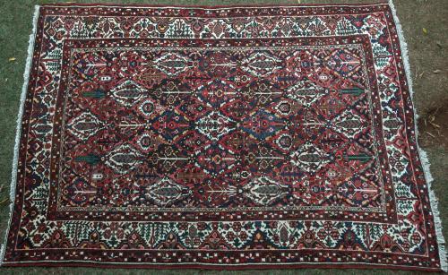 Old Bachtiari tribal village Persian Carpet