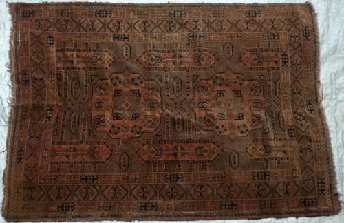 Antique Afghan Ersari Charshango Rug