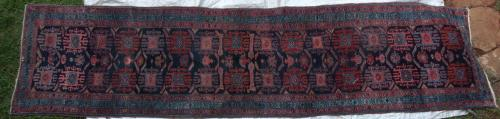 Antique Malayer Persian Runner hand-spun wool natural dyes