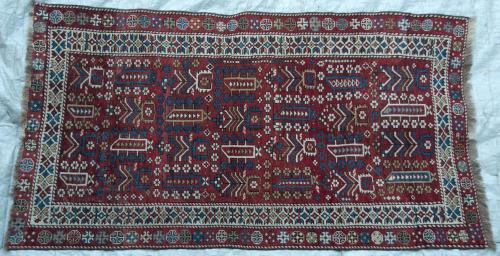 Antique Kazak Caucasian Marashali Tribal Rug