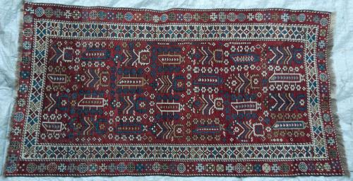 Antique Kazak Caucasian Marashali Tribal Rug