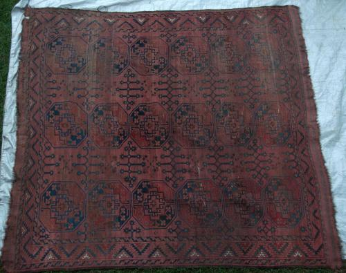 Afghan Ersari Antique Carpet Afghanistan hand-spun wool
