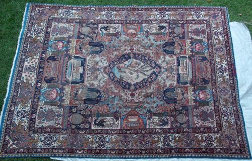 Antique Kashmar Persian Carpet
