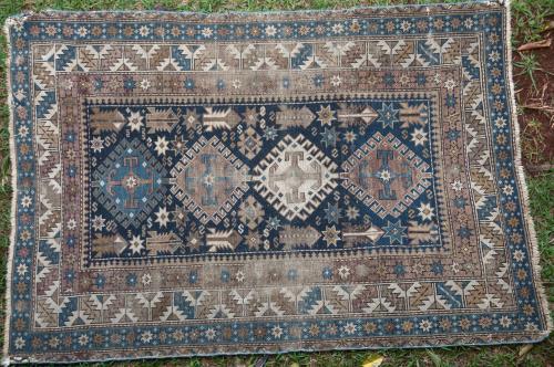 Antique Baku Caucasian Rug