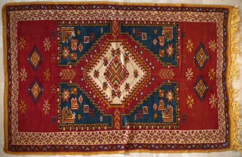 Old Antique Ait Ouaouzguite Moroccan Berber rug