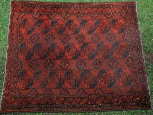 Antique Ersari Turkoman Afghan main carpet