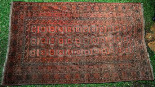 Antique Kizilayak Turkoman Afghan main carpet