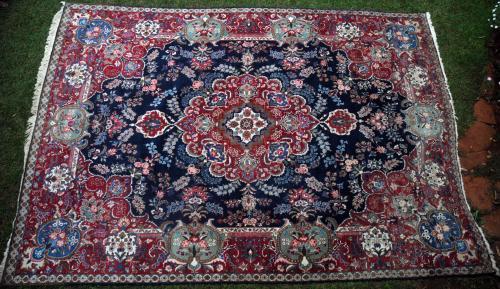 Antique Mashad or Khorassan palace-size carpet
