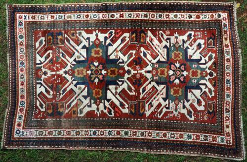Antique Karabagh Caucasian Chelaberd 'Eaglestar' Kazak