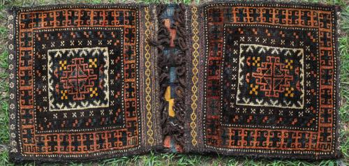 Old Baluch Kurdish Northeast Persian saddle-bag