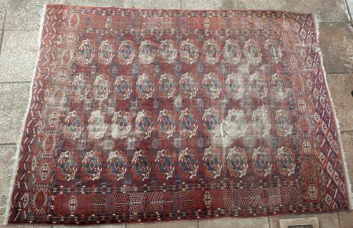 Antique Tekke Turkoman Main Carpet