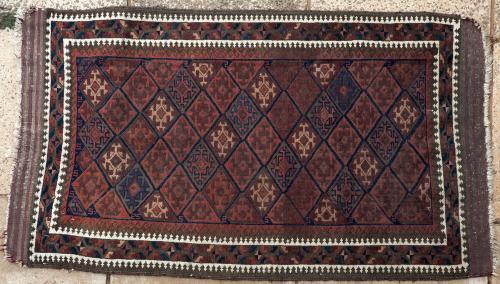 Old or antique Baluch Afghan prayer rug