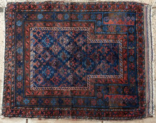 Antique Timuri Baluchi Afghan Prayer Rug