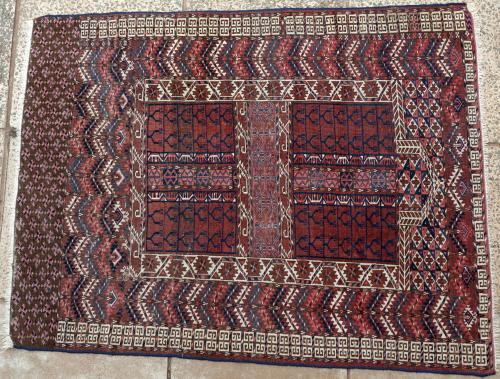 Antique Tekke Turkoman Ensi or Hatchlu