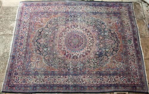 Antique Khorasan or Mashad Persian Carpet