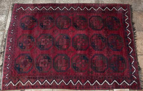 Old or Antique Afghan Ersari Carpet