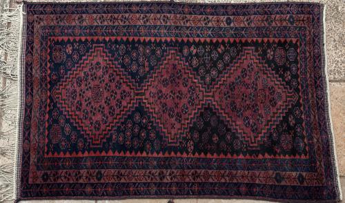 Old Kurdish Khorasan Persian Rug